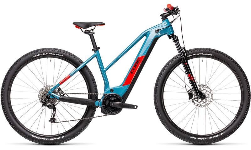 Cube Reaction Hybrid Performance 400 - Trapez 2021 in der Farbe blue'n'red