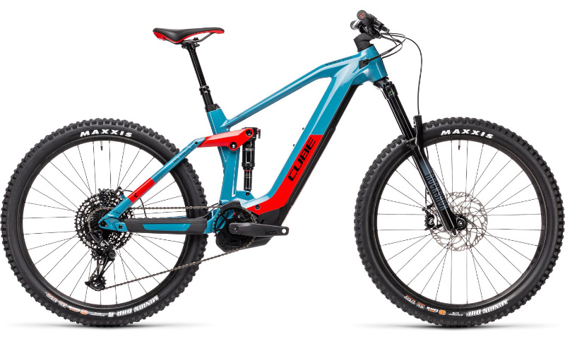 Cube Stereo Hybrid 160 HPC Race 625 2021 in der Farbe blue'n'red