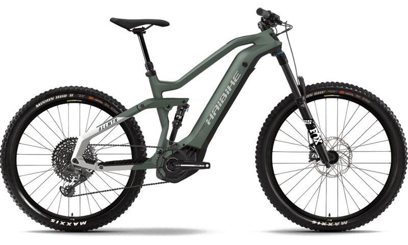Haibike AllMtn 6 2021 in der Farbe bamboo green / cool grey matte