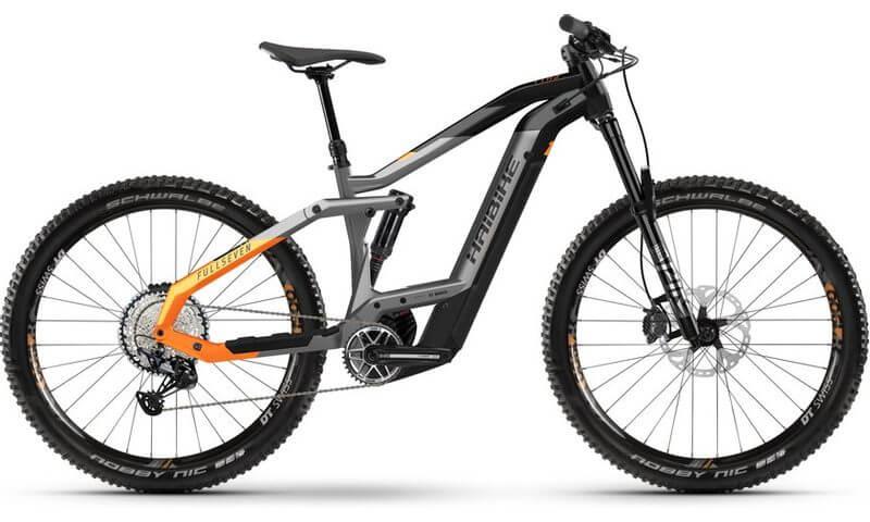 Haibike FullSeven 10 2021 in der Farbe titan / black / lava matt