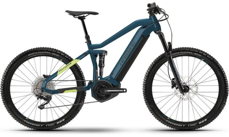 Haibike FullSeven 5 2021 in der Farbe blue / canary