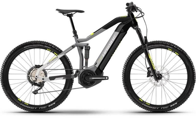 Haibike FullSeven 6 2021 in der Farbe urban grey / black