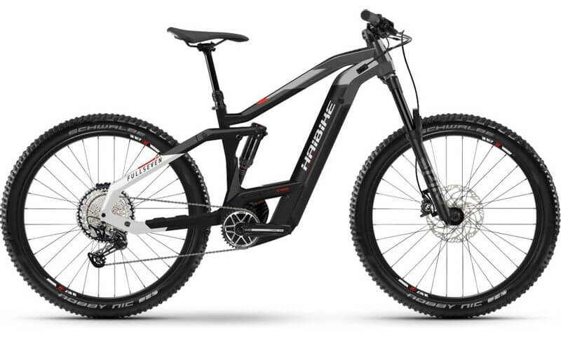 Haibike FullSeven 9 2021 in der Farbe black / titan / white