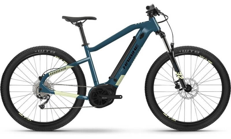Haibike HardSeven 5 2021 in der Farbe blue / canary