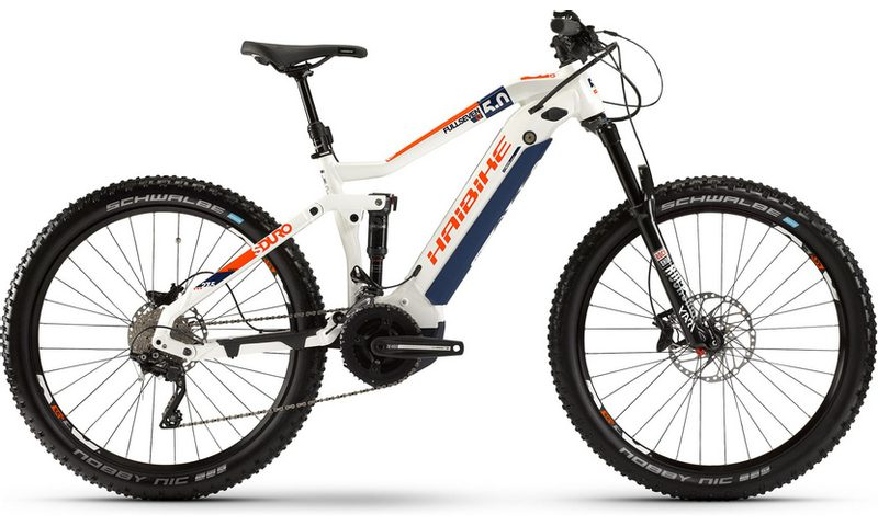 Haibike SDURO FullSeven LT 5.0 2020 in der Farbe weiß / blau / orange