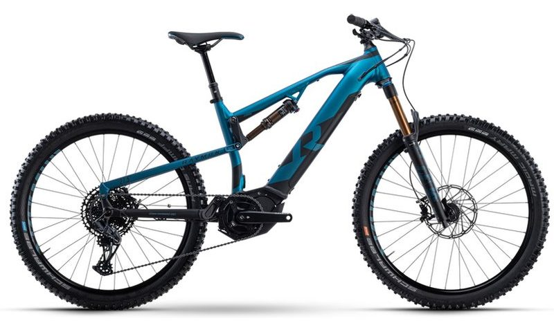 R Raymon FullRay E-Seven 10.0 2021 in der Farbe petrol metallic / black matt