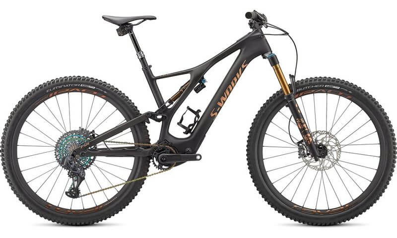 Specialized S-Works Turbo Levo SL 2021 in der Farbe carbon / bronze foil / gloss carbon